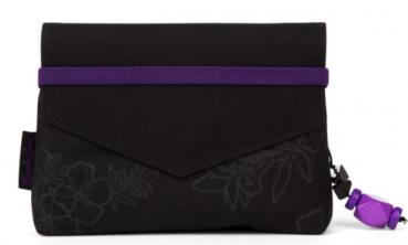 Satch Klatsch Purple Hibiscus Beauty Wallet Täschchen 18cm