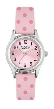 Armbanduhr Kinderuhr Punkte rosa pink Adora Youngline